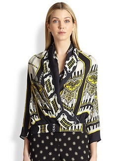 Etro Silk Faux-Wrap Top