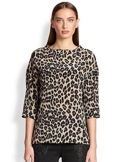 Etro Silk Leopard-Print Blouse