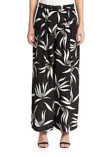 Etro Silk Orchid-Print Pants