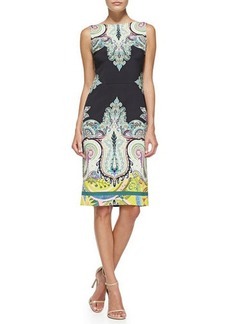 Etro Sleeveless Fern & Paisley-Print Sheath Dress  Sleeveless Fern & Paisley-Print Sheath Dress
