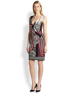 Etro Sleeveless Ruched-Waist Dress