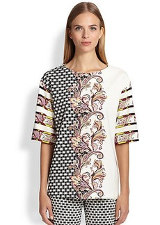 Etro Static Paisley Knit Top