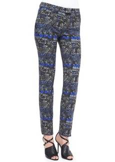 Etro Stenciled Paisley Slim Pants