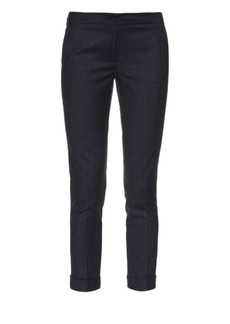 Etro Stretch-flannel cropped trousers