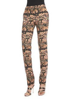 Etro Stretch Stencil Paisley Pants