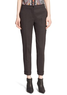 Etro Stretch Wool Cuff Pants