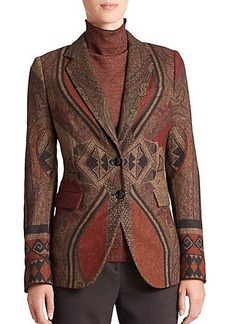 Etro Tapestry Two-Button Jacket
