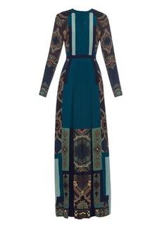 Etro Tina printed-silk gown