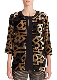 Etro Velvet Burnout Top