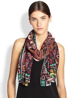 Etro Wool & Silk Paisley Scarf