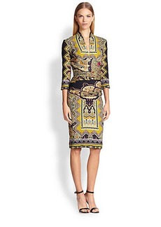 Etro Zig-Zag Paisley Dress