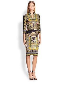 Etro Zig-Zag Paisley Dress