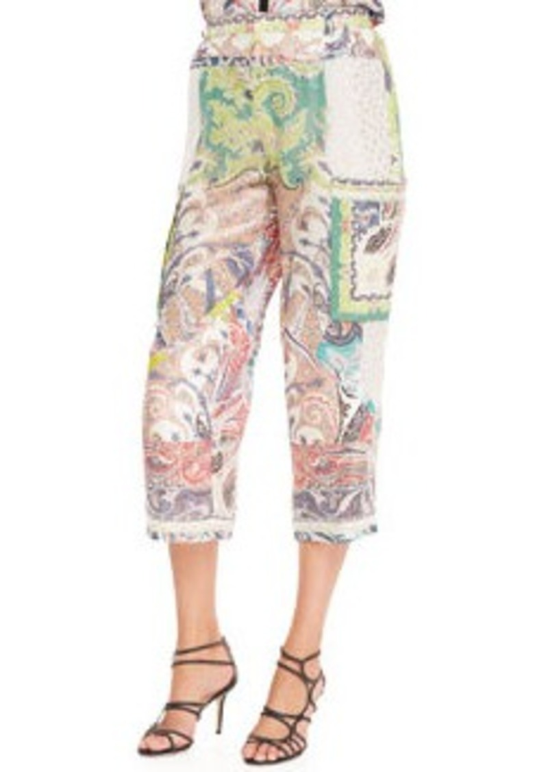 Fern Paisley Patchwork Pants, White/Multi   Fern Paisley Patchwork Pants, White/Multi