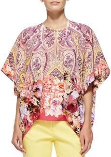 Flutter-Sleeve Paisley & Floral Jacket   Flutter-Sleeve Paisley & Floral Jacket