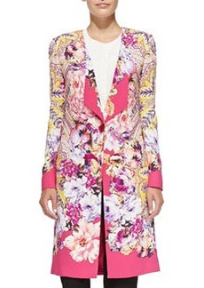 One-Button Paisley & Floral Cardigan   One-Button Paisley & Floral Cardigan