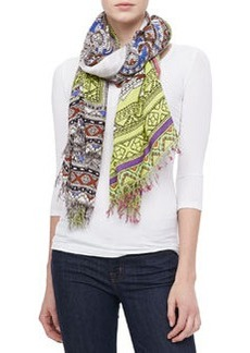 Paisley Elephant Scarf, Multicolor   Paisley Elephant Scarf, Multicolor