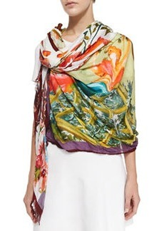 Scenic Printed Wrap, Pink/Multi   Scenic Printed Wrap, Pink/Multi
