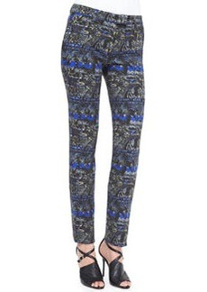 Stenciled Paisley Slim Pants   Stenciled Paisley Slim Pants