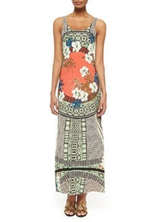 Tank Maxi Dress with Tribal Print   Tank Maxi Dress with Tribal Print