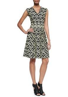 Zigzag Intarsia-Knit Cotton Dress   Zigzag Intarsia-Knit Cotton Dress