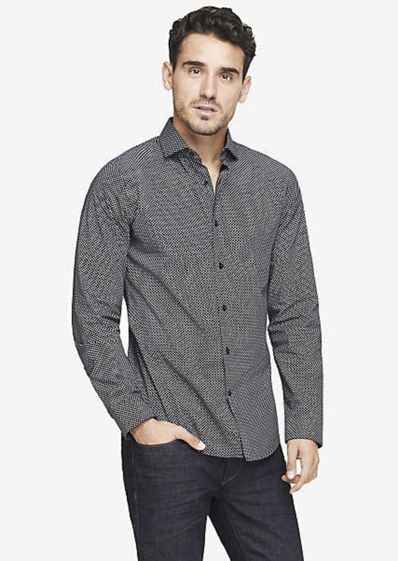 Express extra slim micro print dress shirt dress shirts for Extra slim dress shirt