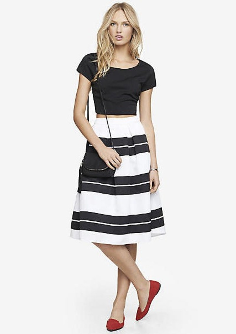express high waist striped midi skirt skirts shop