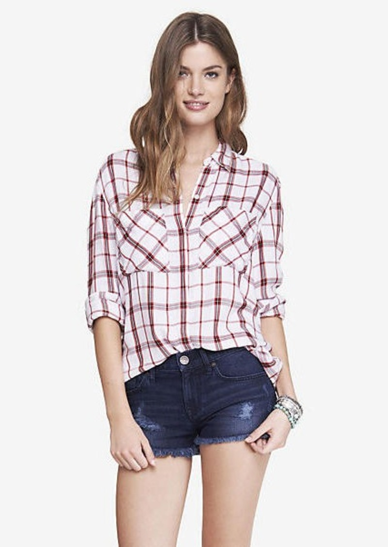 Express Oversized Plaid Shirt Casual Shirts Shop It To Me