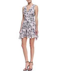 Robert Rodriguez Bonded Floral-Print Summer Dress