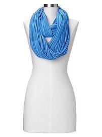 Burnout stripe T-shirt infinity scarf