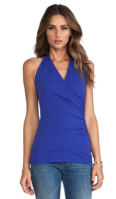 Susana Monaco Wrap Halter Top in Royal