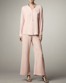 Go Silk Wide-Leg Silk Pants
