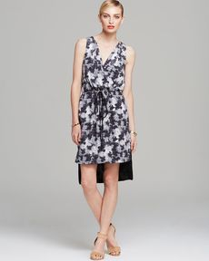 Robert Rodriguez Dress - Sleeveless Floral Print Midi Drawstring
