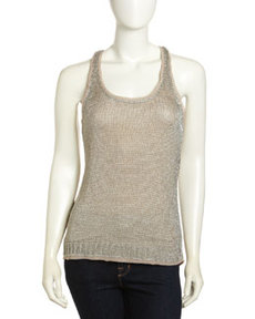 Paper Denim & Cloth Knit Metallic Tank
