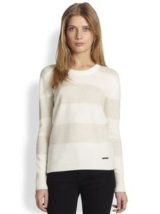 Burberry Brit Lurex-Striped Sweater