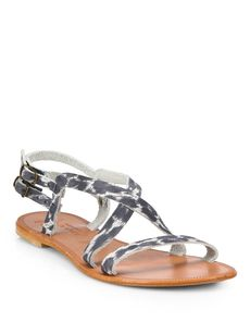 Joie Socoa Animal-Print Leather Sandals