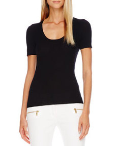 Scoop-Neck Cashmere Top   Scoop-Neck Cashmere Top