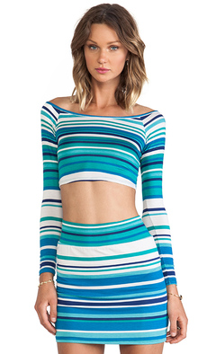 Rachel Pally Cunningham Crop Top in Blue