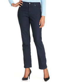 Charter Club Jeans, Tummy-Slimming Curvy-Fit Straight-Leg, Blue-Black Wash