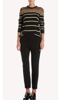 3.1 Phillip Lim Gold Metallic Striped Pullover