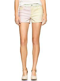 1969 colorblock maddie denim shorts