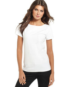 Jones New York Short-Sleeve Scoop-Neck Tee