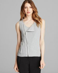 Eileen Fisher Zip Up Vest - Bloomingdale's Exclusive