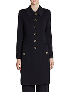 St. John Santana Knit Collared Long Jacket