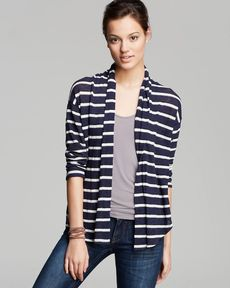 Splendid Cardigan - Laguna Stripe Loose Knit