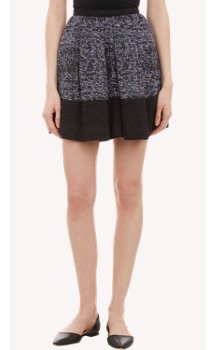 Proenza Schouler Tweed Colorblock Full Skirt