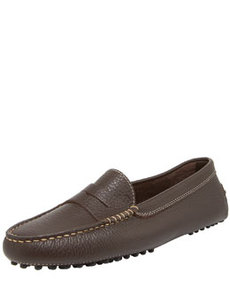 Gommini Pebbled Moccasin, Brown   Gommini Pebbled Moccasin, Brown