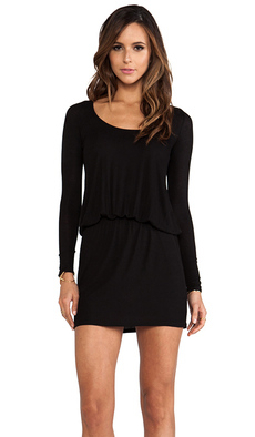 Rachel Pally Rib Hannah Dress in Black