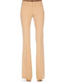 Flared Crepe Trousers   Flared Crepe Trousers