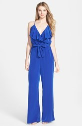 Laundry by Shelli Segal Ruffle Front Jumpsuit