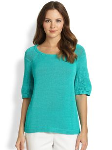 Lafayette 148 New York Open-Weave Sweater